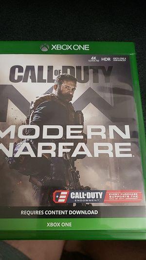 Call of duty modern warfare xbox one for Sale in El Cajon, CA