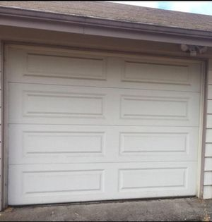 White Insulated Garage Door 9 ft. x 7 ft. for Sale in Portland, OR