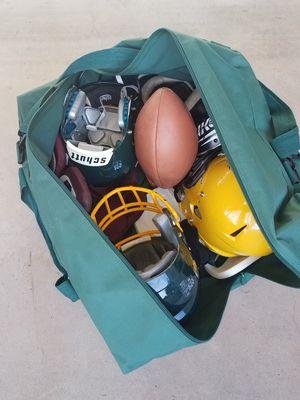 Duffle Bag with Random High School Football Equipment (the bag alone is worth it) for Sale in Phoenix, AZ