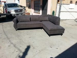 NEW 9X7FT ANNAPOLIS STEEL BLUE FABRIC SECTIONAL CHAISE for Sale in Hemet, CA