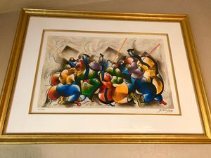 David Schluss large framed Concerto painting for Sale in Chandler, AZ