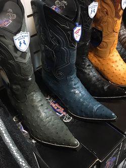 Nuevas Botas Vaqueras De Piel Original De Avestruz Marca Wild West Boots for Sale in Anaheim,  CA