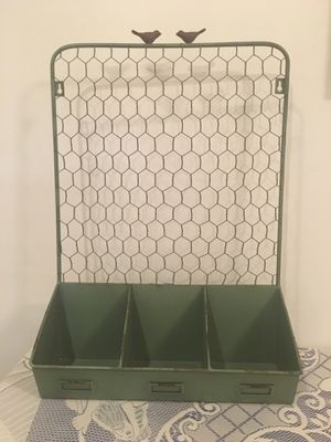 Farmhouse Metal & Wire Wall Organizer for Sale in Tampa, FL