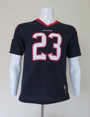 Arian Foster Jersey Youth Boys Large Size 14-16 NFL Houston Texans Blue for Sale in Weston, MA