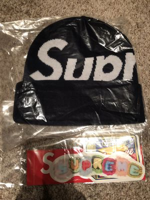 Supreme big logo beanie navy for Sale in Lynnwood, WA