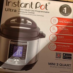 Instant Pot Ultra Mini 10-in-1 Electric Pressure-brand new for Sale in Grosse Pointe Woods, MI