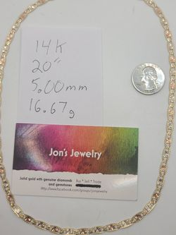 """14k Gold 20"""" Tricolor Valentino Link Necklace for Sale in Croydon,  PA"""