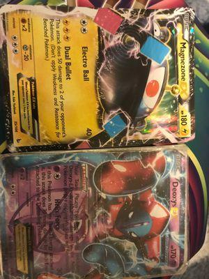 DeoxysEX MagnezoneEX Pokemon cards for Sale in Hammonton, NJ