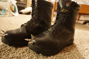 Steel toed leather studded boots for Sale in Eagar, AZ