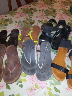 Flip Flops 5.00. Rain Boots 20.00. Ankle Boots 10.00 for Sale in La Puente,  CA