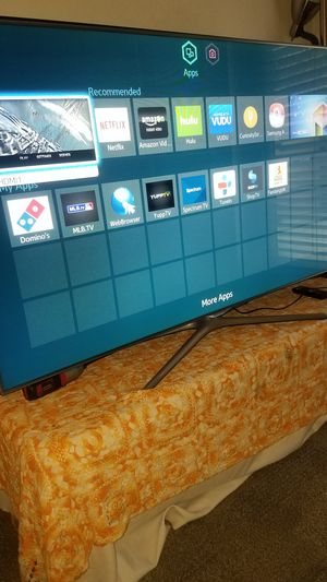 """60""""Samsung Led HD 1080p Smart TV wi-fi clear Motion 120hz model is UN60F6300 for Sale in San Jose, CA"""