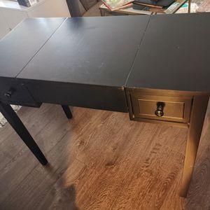 Vanity Mirror Desk Makeup Table Black for Sale in La Mirada, CA