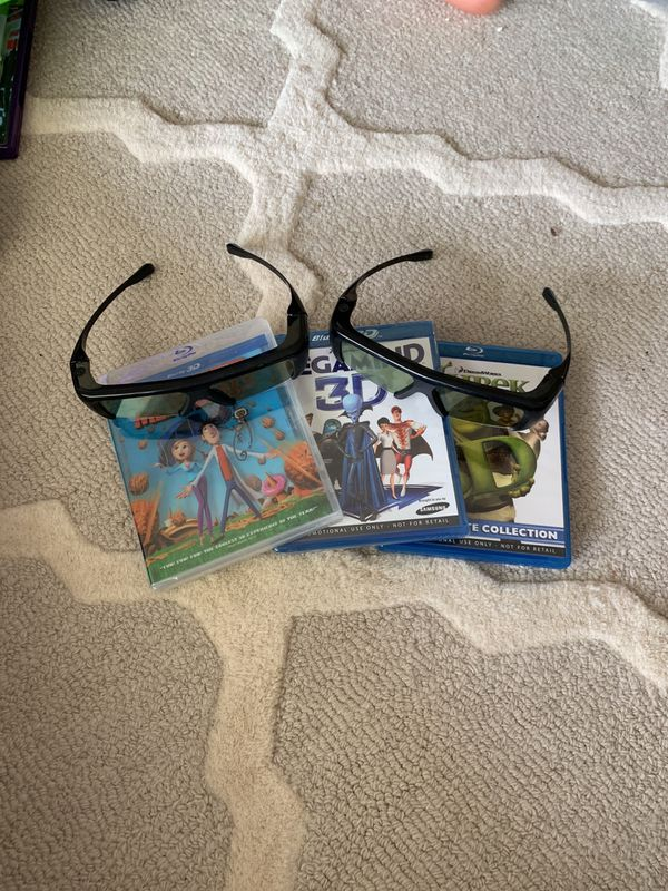 3D Blu-ray glasses and movies