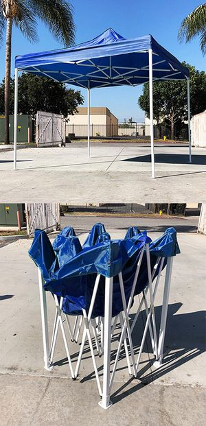 $90 New Blue 10x10 Ft Outdoor Ez Pop Up Wedding Party Tent Patio Canopy Sunshade Shelter w/Bag for Sale in Whittier, CA