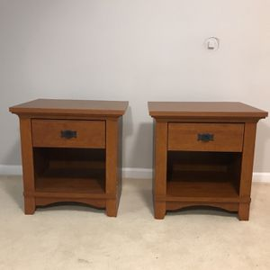 Two Red Wood Craftsman Style End Tables for Sale in Burke, VA