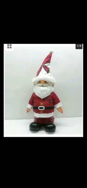 FOREVER Collectible Arizona Cardinals SANTA CLAUSE FIGURINE Resin Statue for Sale in Glendale, AZ