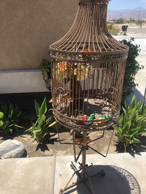 Iron heavy bird cage for Sale in Thermal, CA