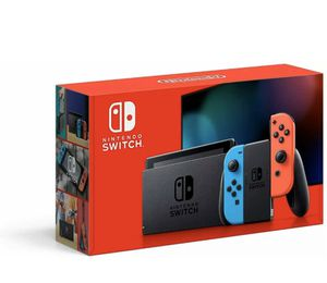 Nintendo Switch 32GB Gray Console with Neon Red and Neon Blue Joy-Con for Sale in Ashburn, VA
