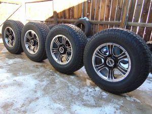 New 17X9 Matte Black V-Tec Assasin Rims & 265 70 17 Hankook A/T Tires for Sale in Aurora, CO