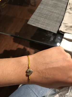 Bracelet in thread with 18k gold charms for Sale in Miami, FL