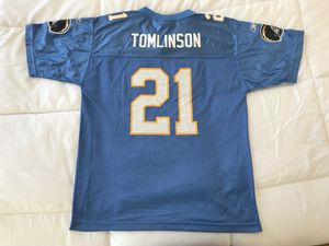 Ladainian Tomlinson Youth XL (essentially and Adult Small) Reebok San Diego Chargers Jersey Powder Blue Vintage Los Angeles for Sale in Washington, DC