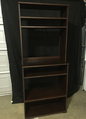 Shelving unit / TV stand. 72 height 30 wide and 16 deep. 4 removable / adjustable shelves. for Sale in Romeoville, IL