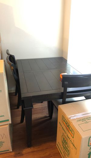 Dining Room Table with 3 chairs for Sale in Puyallup, WA