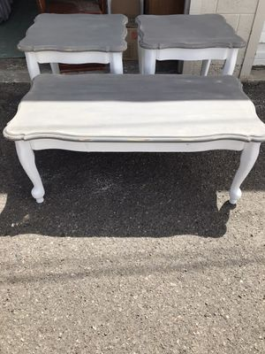 Shabby chic coffee table set for Sale in Salt Lake City, UT