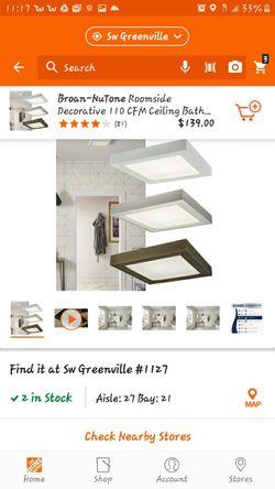 NuTone 110 CFM bathroom exhaust fan for Sale in Greenville,  SC