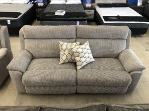 Lane Sofa & Triple Reclining with Recliner Chair Emmet Stone/Extrovert Silver for Sale in Tulsa, OK