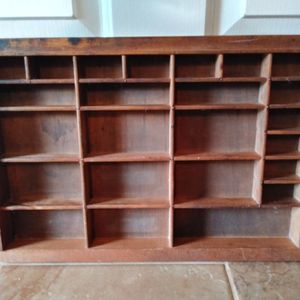 Vintage Antique Type Set Drawer Tray Shadow Box Display for Sale in Pearland, TX
