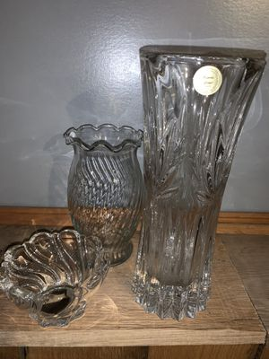 Lead crystal vases/candy dish for Sale in MD, US