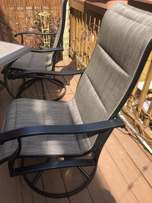 2 tall patio swivel rocking chairs for Sale in Washington, DC