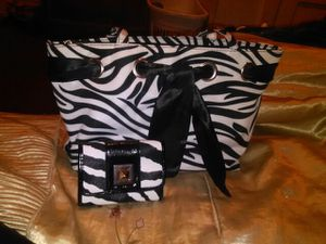 Zebra purse with matching wallet for Sale in Saint Louis, MO