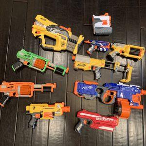 Lot Of Nerf Guns Including Nerf Vulcan for Sale in Irvine, CA