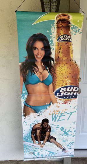 Bud Light surfer beach girl vinyl banner for Sale in Whittier, CA