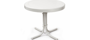 METAL SIDE TABLE IN ALABASTER WHITE NEW! for Sale in Fresno, CA
