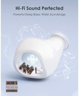 Bluetooth 5.1 Earbuds, CVC 8.0 Stereo Sound Deep Bass, IPX8 Waterproof for Sale in San Jose, CA