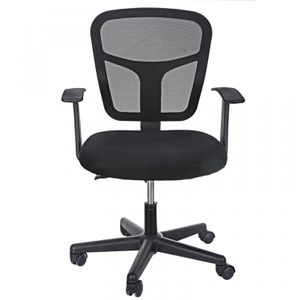 Ergonomic Rotatable Midback Office Chair with Armrests and Contoured Mesh Back for Sale in Wildomar, CA