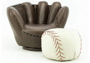 KIDS TEENS Baseball Glove Chair & Ottoman SET SEATING for Sale in Downey, CA