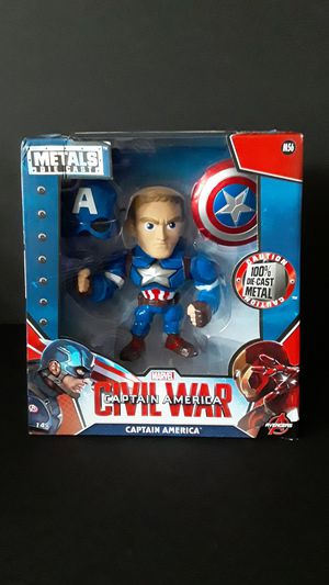 Jada Metals Die Cast 6 Inch Captain America for Sale in Federal Way, WA
