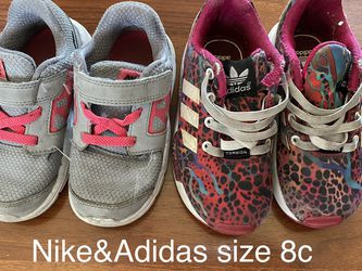 nike and adidas shoes size 8c for Sale in Buena Park,  CA