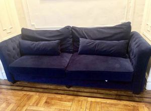 Navy blue sofa - 6 months old for Sale for sale  Queens, NY