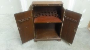 Antique liquor cabinet (solid wood construction) for Sale in St. Louis, MO