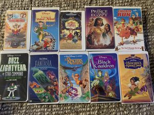 Set of 10 Disney VHS Movies for Sale in Bellevue, WA