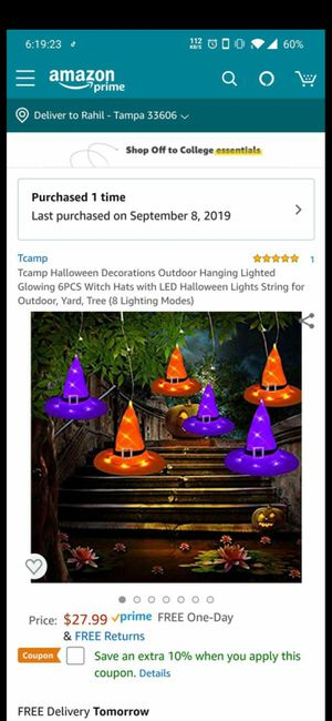 Halloween light decoration hat shape new never used for Sale in Tampa, FL