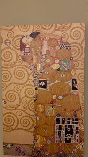 The hug by Gustav Klimt canvas paint for Sale in Barrington, IL