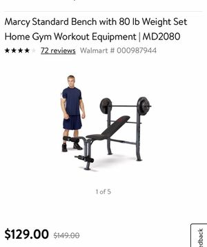 Bench with weights for Sale in Fort Wayne, IN