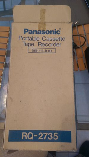 BRAND NEW...UNUSED *Vintage* Panasonic Portable Cassette Tape Recorder in original packaging. All accessories still in the box. Mono 1 piece earpho for Sale in Chicago, IL