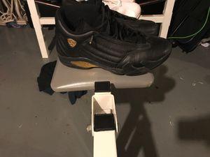 Jordan 14 championship pack shoes , Kobe Nike gloves , orange Nike foam posits 250 for the championship shoe 150 for Kobe's and 250 for the Nike fo for Sale in Florissant, MO